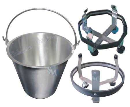 Accesorios de acero inoxidable for Cubetas de acero inoxidable